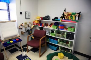 Play therapy is offered for children. (Photo: Alex Crowder, KSMU)